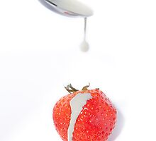 Strawberry and Cream by Michael Hollinshead