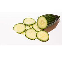Sliced Cucumber  Photographic Print
