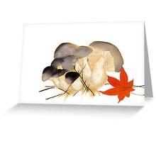 japenese print  mushrooms Greeting Card