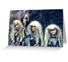 Three Barbies Greeting Card