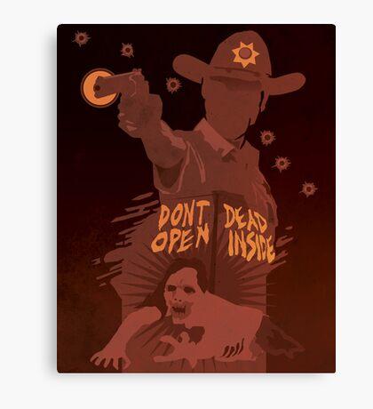 The Walking Dead Satirical Fan Art - Rick 8x10 Canvas Print