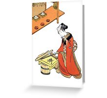 japenese print woman Greeting Card