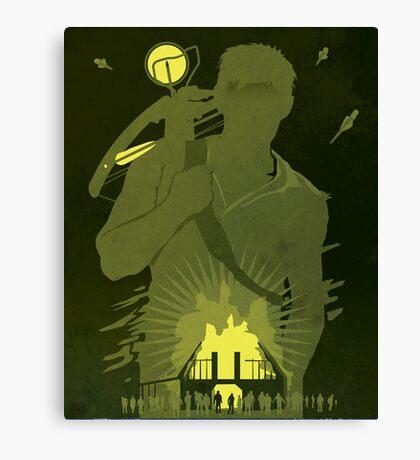 The Walking Dead Satirical Fan Art - Daryl 8x10 Canvas Print
