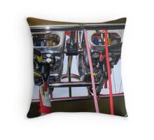 Hot Air Balloon controls. Throw Pillow