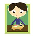 Eating Sushi by EmilyListon4