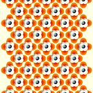 repeated Orange Flower Pattern - Apple iPhone 5, iphone 4 4s, iPhone 3Gs, iPod Touch 4g case by Pointsalestore .com