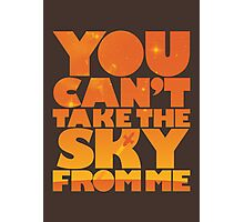 You Can't Take the Sky From Me | Orange Edition Photographic Print