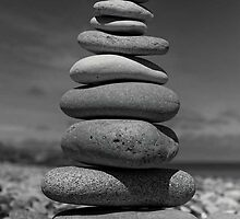 Pebble stack by Graham McAndrew