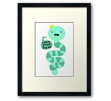 King Worm Framed Print