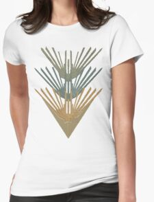 Aztec type design Womens Fitted T-Shirt