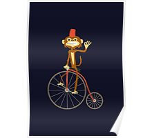 the Monkey and the bicycle  Poster