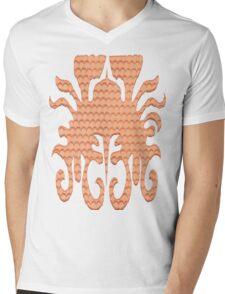 Aztec design Mens V-Neck T-Shirt