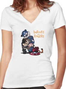 Imagined We Fall Women's Fitted V-Neck T-Shirt