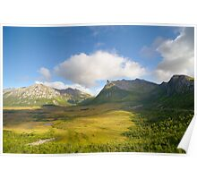 Norwegian mountain landscape Poster