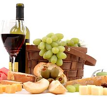 Wine and Cheese by photolcu