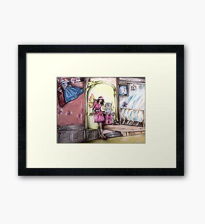 A fairy and a furry Framed Print