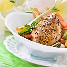 Chicken breast with veggies and herbs by Franz Diegruber