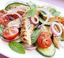 Chicken Cucumber and Mint Salad by franz168