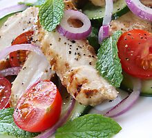 Chicken, Cucumber and Mint Salad by franz168