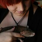 Self Portrait with Rat 02 by Wizadora Wilkinson