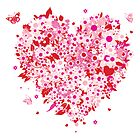 Floral Heart  by SandraWidner