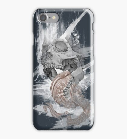 Skull Octopus Graphic tshirt -- Kraken Skull -- fitted Men Unisex t shirt iPhone Case/Skin