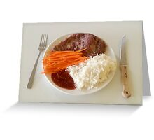 Steak With Spicy Sauce Greeting Card