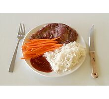 Steak With Spicy Sauce Photographic Print
