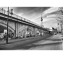 Shadow of the wall of Berlin Photographic Print