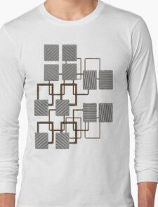 Geometric Lines design Long Sleeve T-Shirt