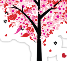 Floral Heart Tree Sticker