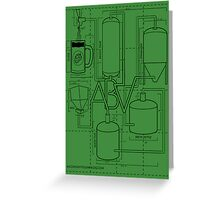 Alcohol By Volume Design (Black) Greeting Card