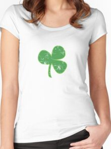 Vintage Clover St Patricks Day Women's Fitted Scoop T-Shirt