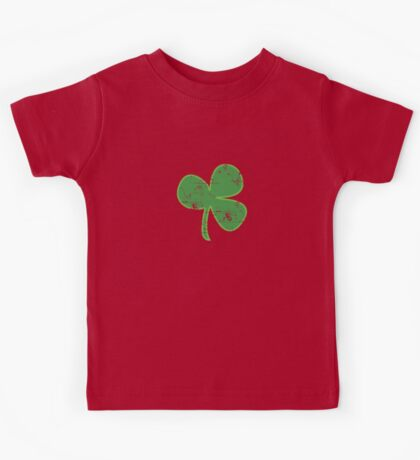 Vintage Clover St Patricks Day Kids Tee