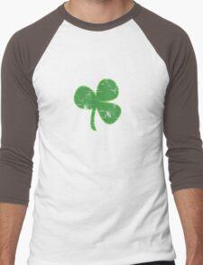 Vintage Clover St Patricks Day Men's Baseball ¾ T-Shirt