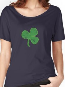 Vintage Clover St Patricks Day Women's Relaxed Fit T-Shirt