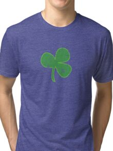 Vintage Clover St Patricks Day Tri-blend T-Shirt