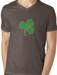 Vintage Clover St Patricks Day Mens V-Neck T-Shirt