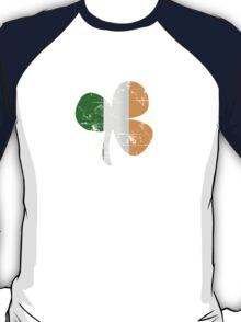 Vintage Irish Flag Clover St Patricks Day T-Shirt