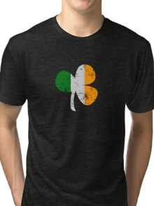 Vintage Irish Flag Clover St Patricks Day Tri-blend T-Shirt