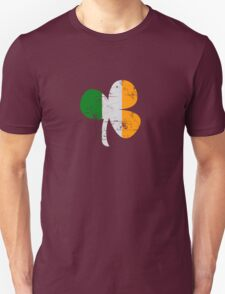 Vintage Irish Flag Clover St Patricks Day Unisex T-Shirt