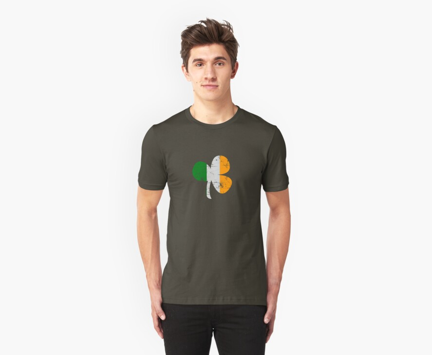 Vintage Irish Flag Clover St Patricks Day by CarbonClothing