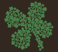 Clover Made Of Clovers St Patricks Day by CarbonClothing