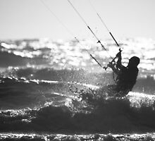 Kite Surfing  by Michael Hollinshead