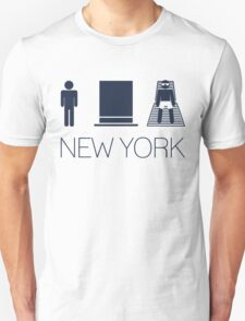 Man hat tan Tee - New York Yankee Blue Lettering T-Shirt