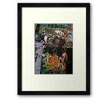 graffitti character Framed Print