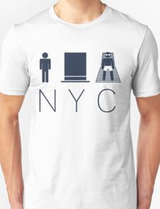 Man hat tan Tee - NYC - Yankee Blue Lettering T-Shirt