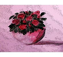 Red roses for your Day, watercolor Photographic Print