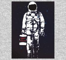 Badass Astronaut - Black visor T-Shirt