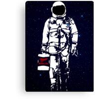 Badass Astronaut - Black visor Canvas Print